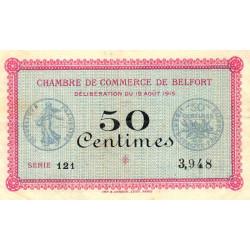 Belfort - Pirot 23-1 - 50 centimes - Série 121 - 18/08/1915 - Etat : TTB