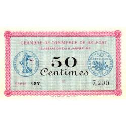 Belfort - Pirot 23-17 - 50 centimes - Série 127 - 06/01/1916 - Etat : NEUF