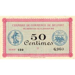 Belfort - Pirot 23-17 - 50 centimes - Série 139 - 06/01/1916 - Etat : SUP