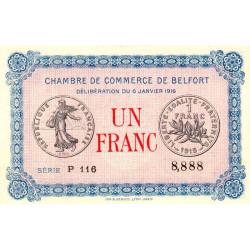 Belfort - Pirot 23-21 - 1 franc - 1916 - Etat : NEUF