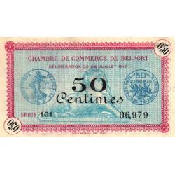 Belfort - Pirot 23-26 - 50 centimes - Série 101 - 28/07/1917 - Etat : SPL