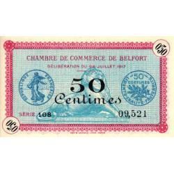 Belfort - Pirot 23-26 - 50 centimes - Série 108 - 28/07/1917 - Etat : NEUF