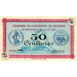 Belfort - Pirot 23-26 - 50 centimes - Série 146 - 28/07/1917 - Etat : SUP