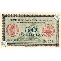 Belfort - Pirot 23-34a - 50 centimes - Série 110 - 04/11/1918 - Etat : TTB