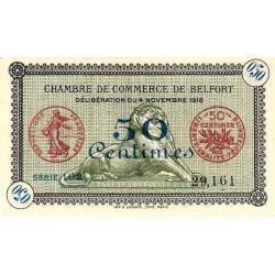 Belfort - Pirot 23-34a - 50 centimes - Série 102 - 04/11/1918 - Etat : NEUF