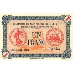 Belfort - Pirot 23-40 - 1 franc - Etat : SPL+