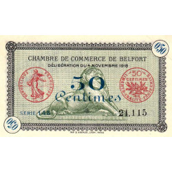 Belfort - Pirot 23-41 - 50 centimes - 1918 - Etat : SPL