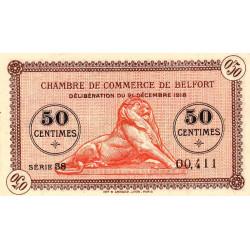 Belfort - Pirot 23-48b - 50 centimes - Série 38 - 21/12/1918 - Etat : SUP