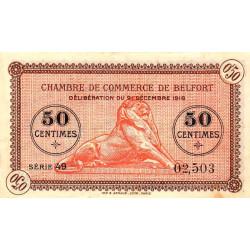 Belfort - Pirot 23-48b - 50 centimes - Série 49 - 21/12/1918 - Etat : TTB