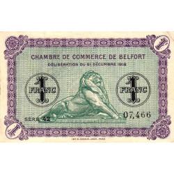 Belfort - Pirot 23-50 - 1 franc - 1918 - Etat : SUP-