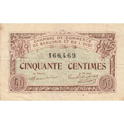 Beauvais - Pirot 22-01 - 50 centimes - Etat : TB+