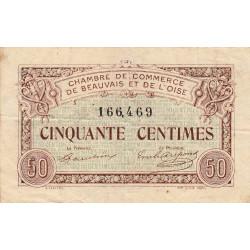 Beauvais - Pirot 22-1 - 50 centimes - 02/06/1920 - Etat : TB+