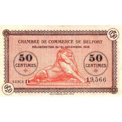 Belfort - Pirot 23-52a - 50 centimes - Série 11 - 21/12/1918 - Etat : SUP