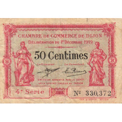 Dijon - Pirot 53-17 - 50 centimes - 1919 - Etat : TB