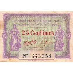 Dijon - Pirot 53-23 - 25 centimes - 30/08/1920 - Etat : TB