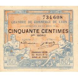 Lyon - Pirot 77-16 - 50 centimes - 9me série - 27/03/1918 - Etat : TTB
