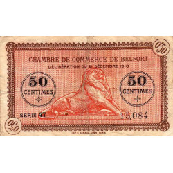 Belfort - Pirot 23-52b - 50 centimes - Série 47 - 21/12/1918 - Etat : TB