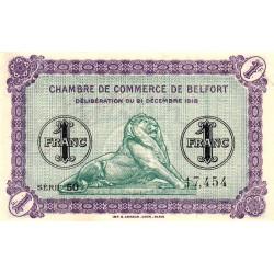 Belfort - Pirot 23-54 - 1 franc - Série 50 - 21/12/1918 - Etat : SUP+