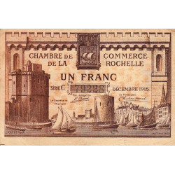 La Rochelle - Pirot 66-3a - Série C - 1 franc - 1915 - Etat : TB