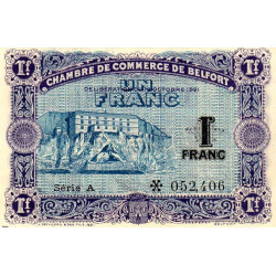Belfort - Pirot 23-60 - 1 franc - Série A - 12/10/1921 - Etat : SPL
