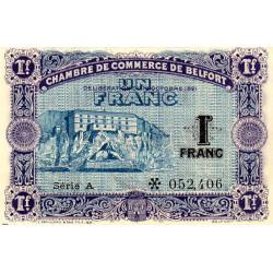 Belfort - Pirot 23-60-A - 1 franc - 1921 - Etat : SPL