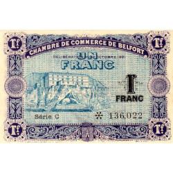 Belfort - Pirot 23-60 - 1 franc - Série C - 12/10/1921 - Etat : NEUF