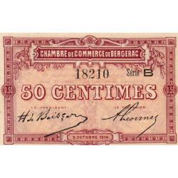 Bergerac - Pirot 24-3 - 50 centimes - Série B - 05/10/1914 - Etat : NEUF
