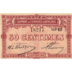 Bergerac - Pirot 24-3 - 50 centimes - Série B - 05/10/1914 - Etat : SPL