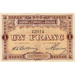 Bergerac - Pirot 24-4a - 1 franc - 1914 - Etat : NEUF