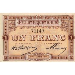 Bergerac - Pirot 24-4 - 1 franc - 05/10/1914 - Etat : SPL