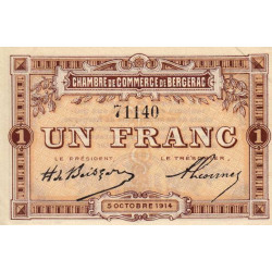 Bergerac - Pirot 24-4a - 1 franc - 1914 - Etat : SPL