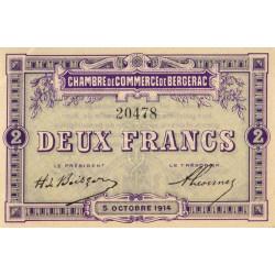 Bergerac - Pirot 24-6 variété - 2 francs - 05/10/1914 - Etat : SPL