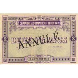 Bergerac - Pirot 24-7 - 2 francs - 05/10/1914 - Annulé - Etat : NEUF