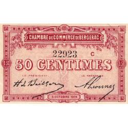 Bergerac - Pirot 24-8 variété - 50 centimes - Série C - 05/10/1914 - Etat : SPL