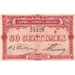 Bergerac - Pirot 24-10a - 50 centimes - 1914 - Etat : SPL