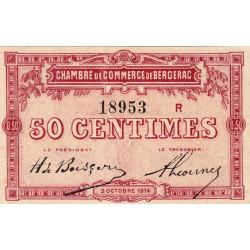 Bergerac - Pirot 24-11 variété - 50 centimes - Série R - 05/10/1914 - Etat : SPL