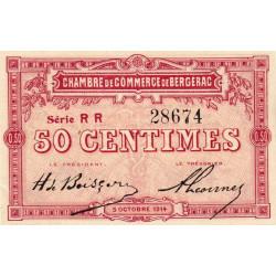 Bergerac - Pirot 24-12 - 50 centimes - Série RR - 05/10/1914 - Etat : SPL-