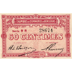 Bergerac - Pirot 24-12a - 50 centimes - Etat : SPL-