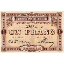 Bergerac - Pirot 24-15 - 1 franc - Série D - 05/10/1914 - Etat : SUP