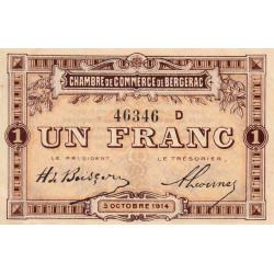 Bergerac - Pirot 24-15b - 1 franc - 1914 - Etat : SPL-