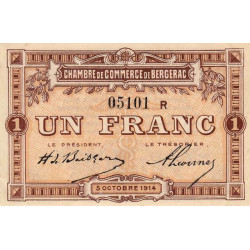 Bergerac - Pirot 24-16a - 1 franc - Etat : SPL-