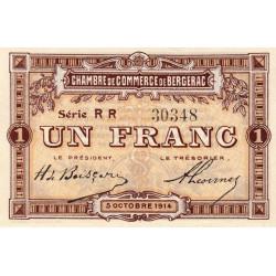 Bergerac - Pirot 24-18 - 1 franc - Série RR - 05/10/1914 - Etat : SUP+