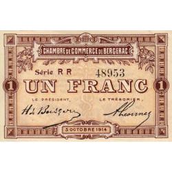 Bergerac - Pirot 24-18 - 1 franc - Série RR - 05/10/1914 - Etat : SUP