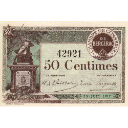 Bergerac - Pirot 24-24a - 50 centimes - 1917 - Etat : SPL+