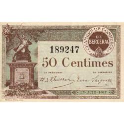 Bergerac - Pirot 24-24 - 50 centimes - 15/06/1917 - Etat : SPL