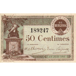 Bergerac - Pirot 24-24b - 50 centimes - 1917 - Etat : SPL