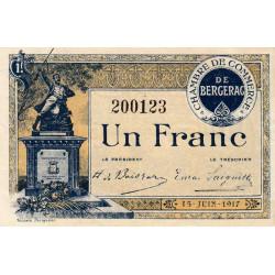 Bergerac - Pirot 24-27b - 1 franc - 1917 - Etat : SPL