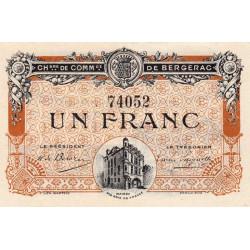 Bergerac - Pirot 24-33 - 1 franc - 05/08/1918 - Etat : SPL+