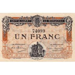 Bergerac - Pirot 24-33 - 1 franc - 05/08/1918 - Etat : SUP+