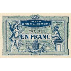 Bergerac - Pirot 24-37 - 1 franc - 12/07/1920 - Etat : SUP
